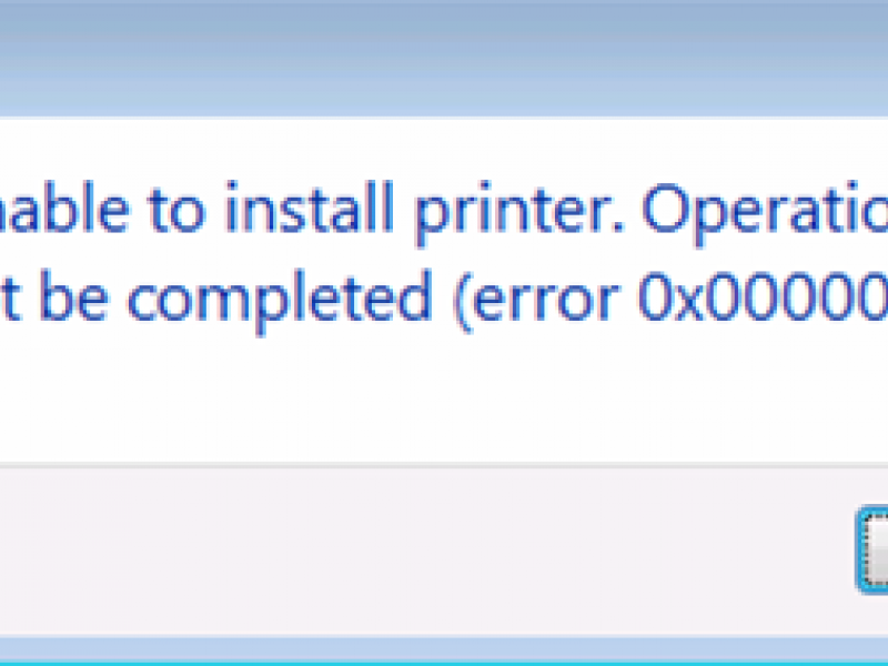 Hướng dẫn khắc phục lỗi Unable to install Printer.Operation could not be completed 0x000003eb