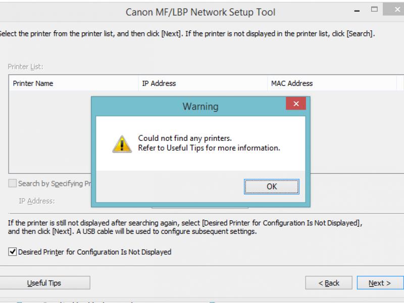 Hướng dẫn khắc phục lỗi tìm không thấy máy in khi cài Wifi Canon LBP6030w / LBP151dw