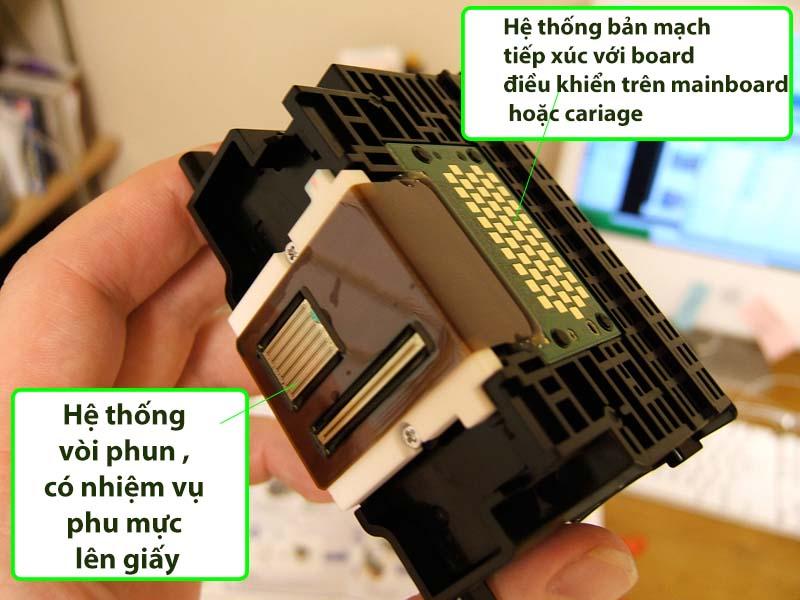 Cấu tạo và nguyên tắc hoạt động của đầu phun máy in Canon